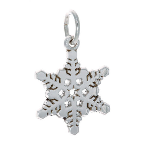 Sterling Silver Detailed Snowflake Charm