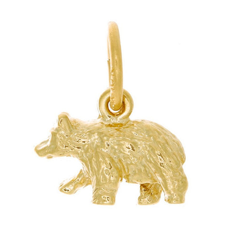 10k Yellow Gold Bear Charm