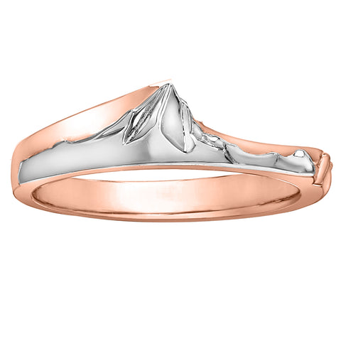 Rose & White Gold Whistler Mountain Ring