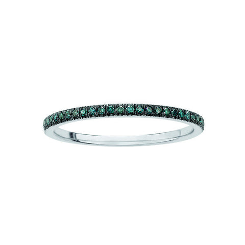 10k Blue Diamond Fine Band