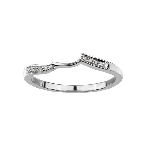 10k White Gold Delicate Wedding Band