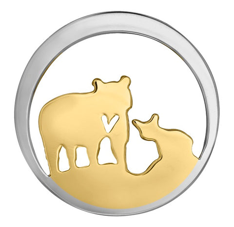 14k Canadian Gold Jeanie Bear Pendant - Medium