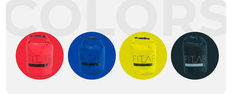 Waterproof Bag Colors Red, Blue, Yellow and Black