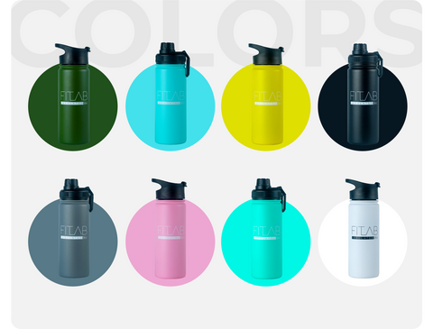 FITLAB Insulated Tumbler Colors - Army Green, Light Blue, Yellow, black, grey, blush pink, turquoise, white