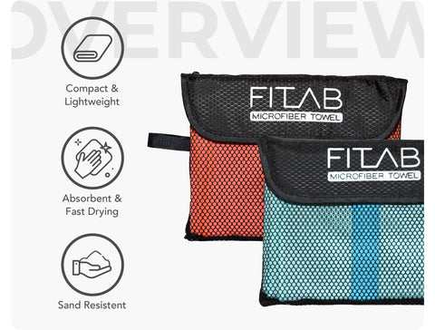 Microfiber Towel Overview - Compact and Lightweight, absorbent and fast drying, sand resistant