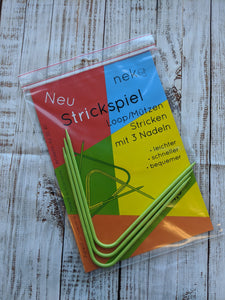 Strickspiel-Curved Double Pointed Needles