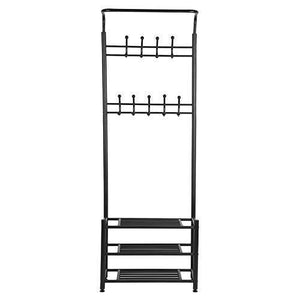 Budget friendly moorecastle multi purpose entryway shoes storage organizer hall tree bench with coat rack hooks clothes stand perfect home furniture
