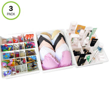 Load image into Gallery viewer, Evelots Drawer Organizers-21 Adjustable Dividers-Kitchen-Bathroom-Office