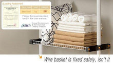 Load image into Gallery viewer, Shop prince hanger multipurpose shelf holds 20kg per shelf heavy duty 32mm vertical pole clothes organizer wire shelves ivory phus 0041