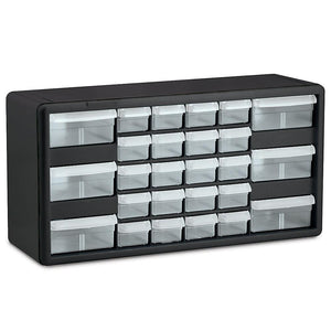 "AKRO-MILS Parts Storage Cabinet - 20x6.38x10.34"" - (20) 2-1/8 x5-1/4 x1-1/2"", (6) 4-3/8 x5-1/4 x2"" Drawers"