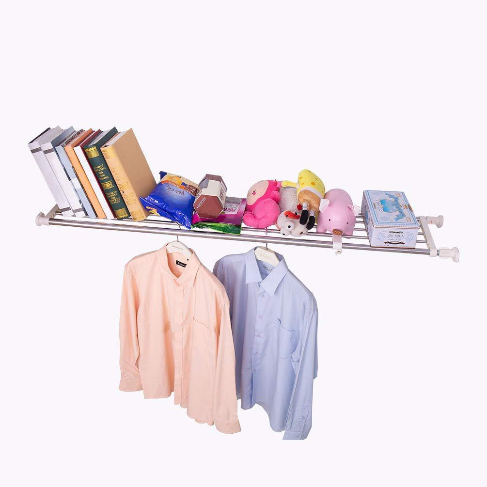 Best seller  hershii tension shelf expandable rod closet system heavy duty clothes hanger adjustable diy garage bathroom kitchen storage organizer shoe rack plant stand bookshelf