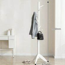 Load image into Gallery viewer, Select nice sweet honey cloth hanger rack stand tree hat hanger holder free standing solid wood coat rack floor hanger for bedroom living room hall 10 hooks r 47x175cm19x69inch