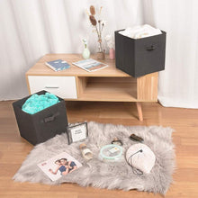 Load image into Gallery viewer, Shop here ximivogue storage box storage bins 3 pack storage cube basket bins cloth folding box closet drawers container dresser basket organizer shelf collapsible for underwear sock bra tight kids toy brown