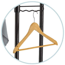 Load image into Gallery viewer, Top tidyliving garmen heavy duty garment rack commercial grade double rod rolling organizer adjustable hanging clothes stand
