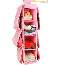 Load image into Gallery viewer, Shop bxt cute multifunctional 10 pockets wardrobe space saving over the door hanging handbags clothes magazines sockets handbags holder rack organiser storage bag
