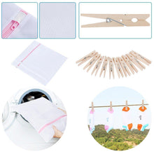 Load image into Gallery viewer, Discover the best bbshoping msodfs 3 in 1 clothes shirt folding board adjustable folder and 2 packs laundry wash bags and 10 pcs wooden clips blove