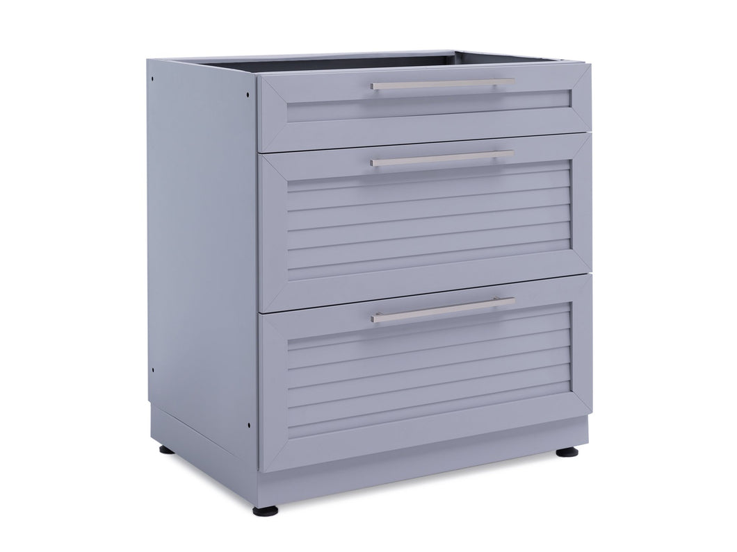Outdoor Kitchen Aluminum 3-Drawer Cabinet