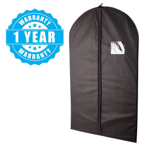 Top rated plixio 40 black garment bags for clothing storage of suits dresses dance costumes includes zipper transparent window 10 pack renewed