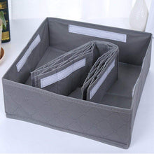 Load image into Gallery viewer, Featured livingbox bamboo charcoal foldable drawer dividers socks organizer 30 cell storage box for storing baby clothes socks underwear handkerchiefs scarf glove ties