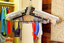 Load image into Gallery viewer, Results the laundry butler clothes drying rack hangers for laundry 5 extendable cascading hangers accessories for draping flat drying line drying of clothes and laundry laundry room deluxe