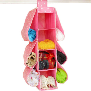 The best bxt cute multifunctional 10 pockets wardrobe space saving over the door hanging handbags clothes magazines sockets handbags holder rack organiser storage bag