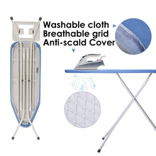 Load image into Gallery viewer, Save king do way ironing board 39 l x 12w x 33h opensize 4 leg table for ironing clothes tabletop ironing board with iron rest wide top iron board design