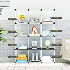 Order now kousi portable storage cube cube organizer cube storage shelves cube shelf room organizer clothes storage cubby shelving bookshelf toy organizer cabinet transparent white 12 cubes