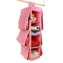Load image into Gallery viewer, Storage organizer bxt cute multifunctional 10 pockets wardrobe space saving over the door hanging handbags clothes magazines sockets handbags holder rack organiser storage bag