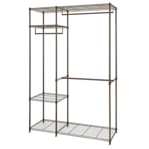 Get lifewit portable wardrobe clothes closet storage organizer with hanging rod adjustable legs quick and easy to assemble large capacity dark brown