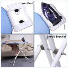 Load image into Gallery viewer, Related king do way ironing board 39 l x 12w x 33h opensize 4 leg table for ironing clothes tabletop ironing board with iron rest wide top iron board design