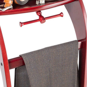 Save storagemaid clothes valet stand with mirror beautiful solid mahogany hardwood wardrobe valet stand for clothes with trouser bar jacket hanger tray organizer tie belt hook and shoe rack