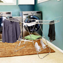 Load image into Gallery viewer, Selection heavy duty laundry drying rack chrome steel clothing shelf for indoor and outdoor use best used for shirts pants towels shoes by everyday home