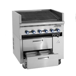 Imperial IR-36ABR-SC Restaurant Series Sizzle 'N Chill Range, gas, 36""
