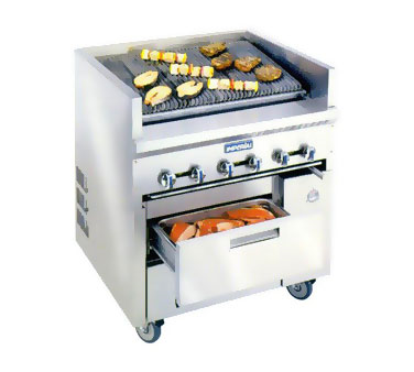 Imperial IR48ABR-SC-XB Restaurant Series Sizzle 'N Chill Range, gas, 48