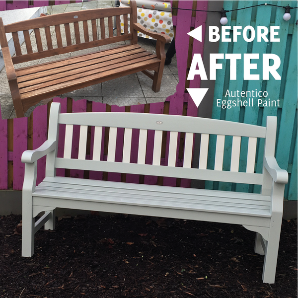 Garden Bench Painting Project
