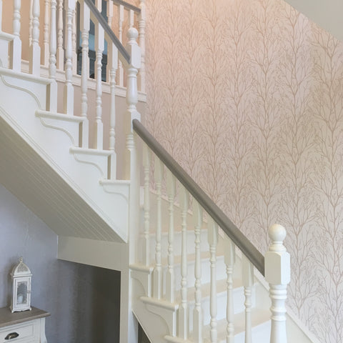 Stairs painted in Autentico Superior Eggshell from Lily Bloom