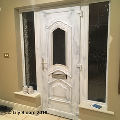 PVC Door primed and ready to paint with Autentico Paint