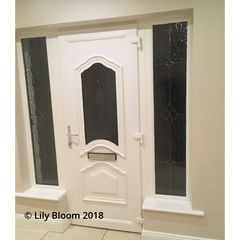 PVC Door, window sills, skirting and wall painted with Autentico Paint from Lily Bloom Interiors