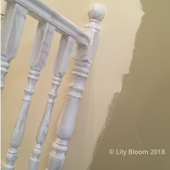 Spindles coated with Autentico Primer from Lily Bloom Interors