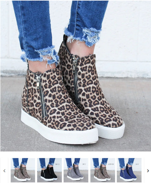 Order Here—> Cute High Top Wedge Sneaker | 6 Colors for $29.99 (was $65.99) 2 days only.