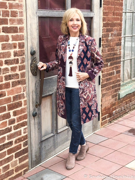 Hi friends! I'm back with another Fashion over 50 featuring some fun mix and match clothing items from Chico's