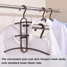 Load image into Gallery viewer, Best seller  upra shirt hangers space saving plastic 5 pack durable multi functional non slip clothes hangers closet organizers for coats jackets pants dress scarf dorm room apartment essentials