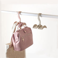 Load image into Gallery viewer, Rotated Storage Rack Bag Hanger Plastic Clothes Rack Creative Tie Closet Hanger Wardrobe Organizer
