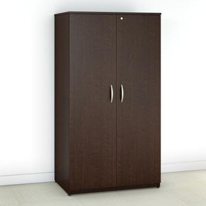 Bush Business Furniture Office in an Hour 36W Wardrobe Storage Cabinet in Mocha Cherry OIAH013MR