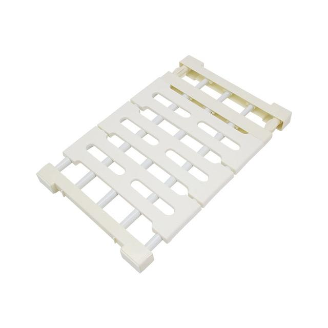 Wardrobe Partition Storage Rack Cabinet Holder Organizer Nail Freedom Telescopic Spacer Frame Clothes Rack Kitchen Storage Shelf