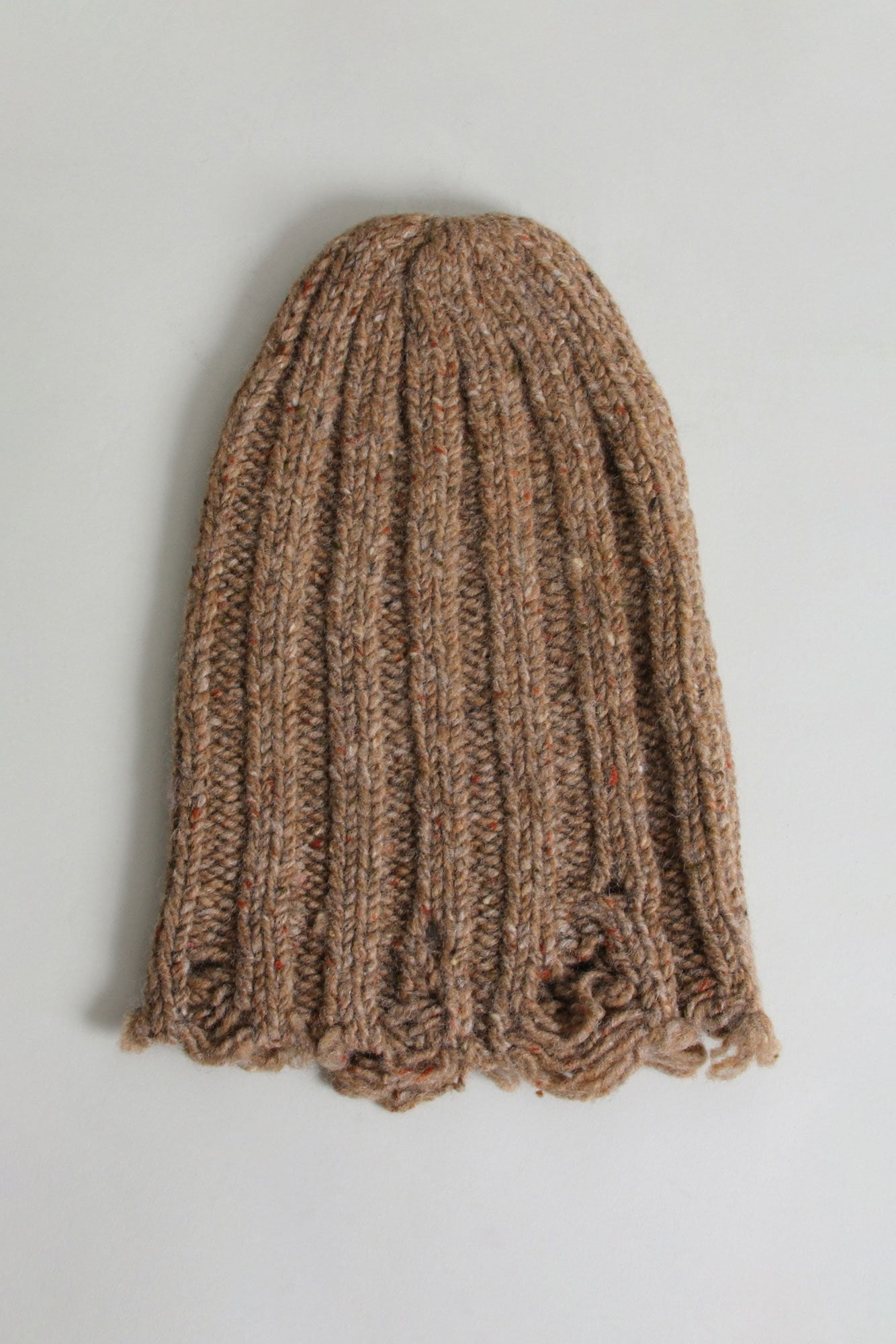 Distressed Chunky Hat - Tan