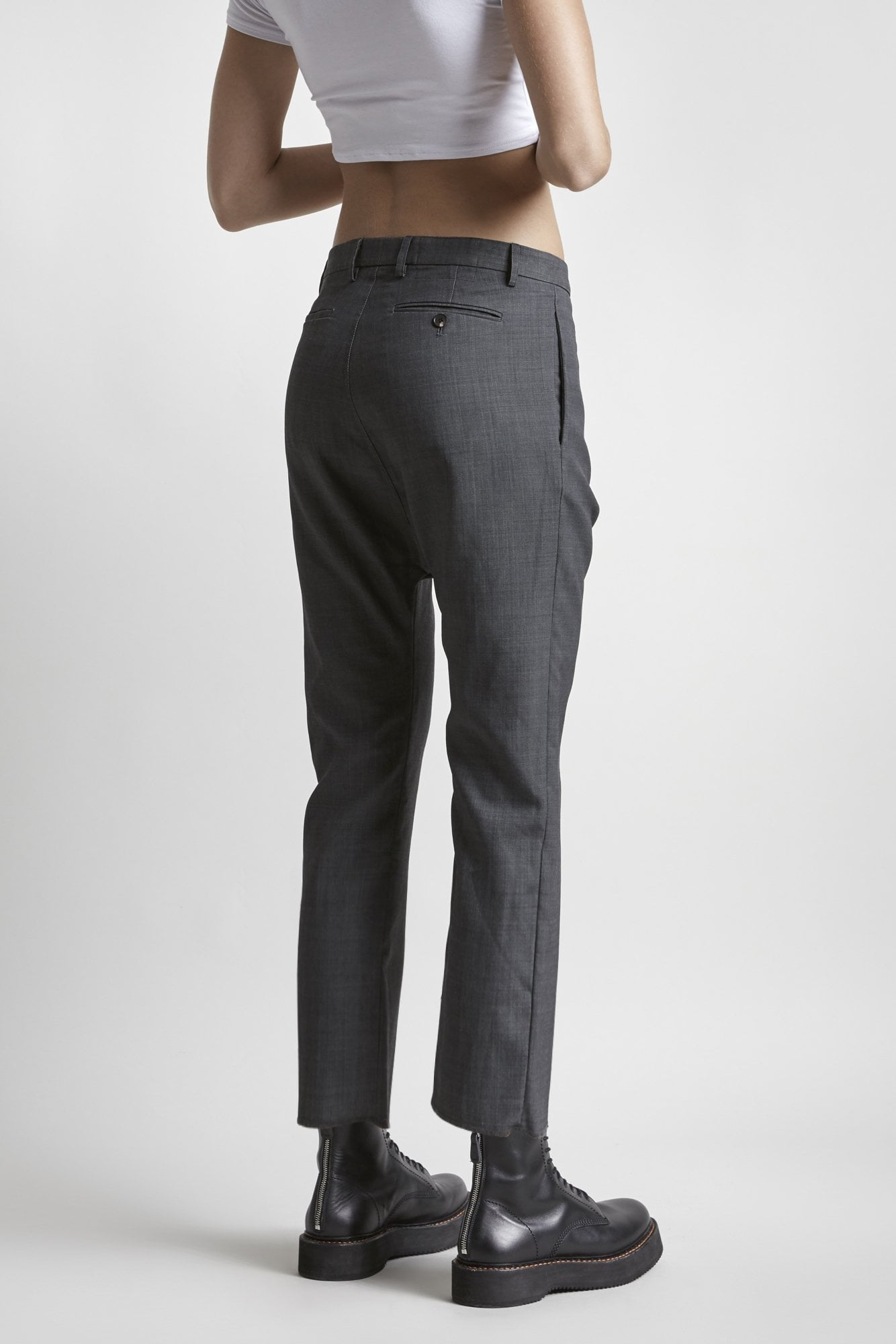Tailored Drop Trouser-Grey