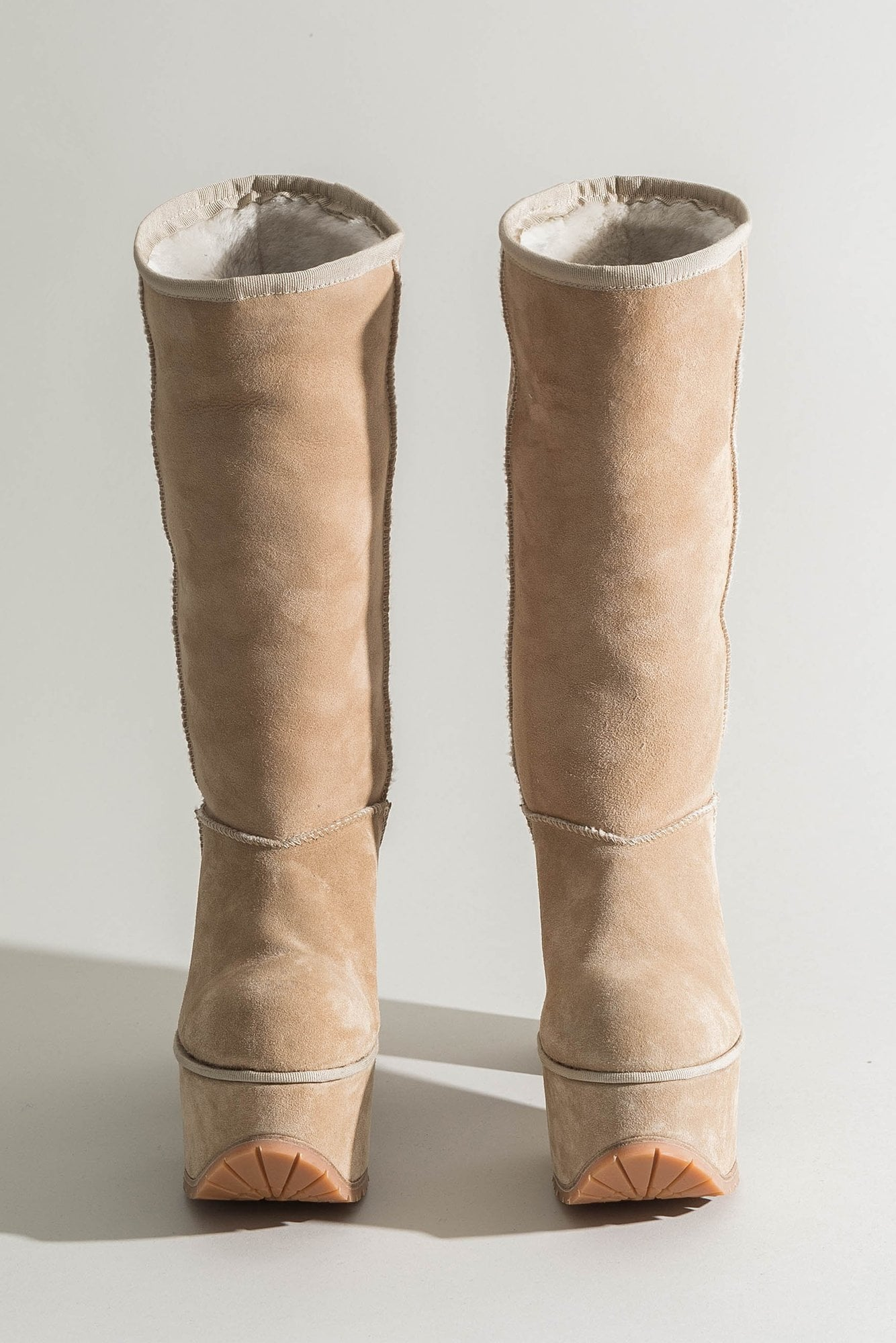 Shearling Tall Platform Boot