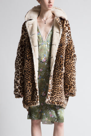 Oversized Faux Leopard Hunting Coat