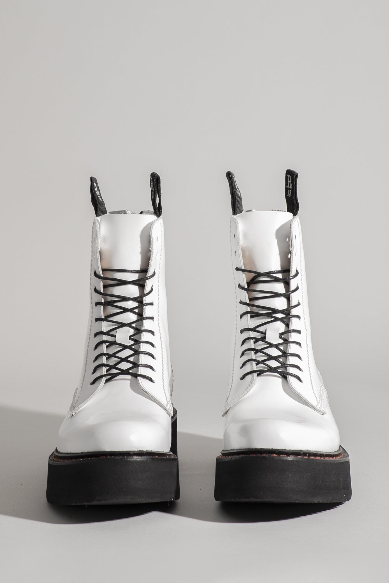 R13 Single Stack Laceup Boot - White